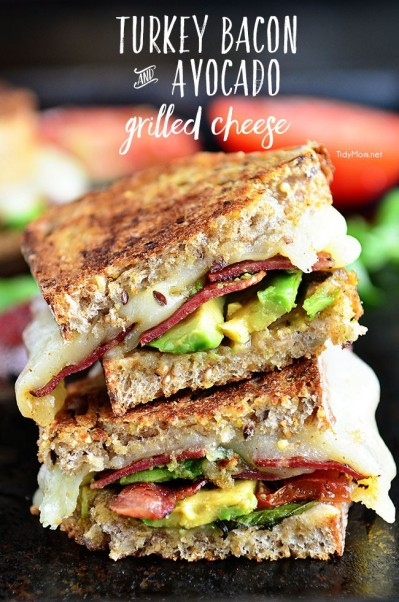 turkey&avocado grilled cheese